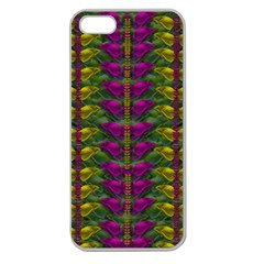 Butterfly Liana Jungle And Full Of Leaves Everywhere Apple Seamless Iphone 5 Case (clear) by pepitasart