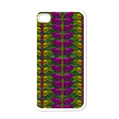 Butterfly Liana Jungle And Full Of Leaves Everywhere Apple Iphone 4 Case (white) by pepitasart
