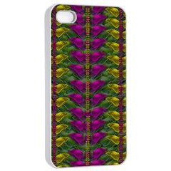 Butterfly Liana Jungle And Full Of Leaves Everywhere Apple Iphone 4/4s Seamless Case (white)