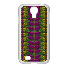 Butterfly Liana Jungle And Full Of Leaves Everywhere Samsung Galaxy S4 I9500/ I9505 Case (white) by pepitasart
