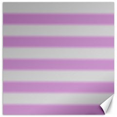 Bold Stripes Soft Pink Pattern Canvas 16  X 16  by BrightVibesDesign