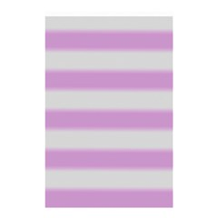 Bold Stripes Soft Pink Pattern Shower Curtain 48  X 72  (small)  by BrightVibesDesign