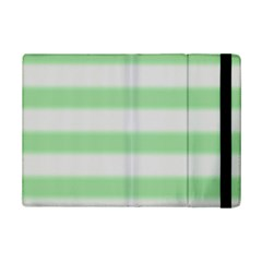 Bold Stripes Soft Green Ipad Mini 2 Flip Cases by BrightVibesDesign