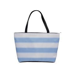 Bold Stripes Soft Blue Classic Shoulder Handbag