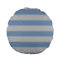 Bold Stripes Soft Blue Standard 15  Premium Round Cushions