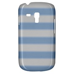 Bold Stripes Soft Blue Samsung Galaxy S3 Mini I8190 Hardshell Case by BrightVibesDesign