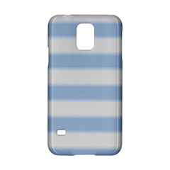 Bold Stripes Soft Blue Samsung Galaxy S5 Hardshell Case  by BrightVibesDesign