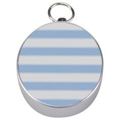 Bold Stripes Soft Blue Silver Compasses by BrightVibesDesign