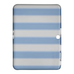 Bold Stripes Soft Blue Samsung Galaxy Tab 4 (10 1 ) Hardshell Case  by BrightVibesDesign