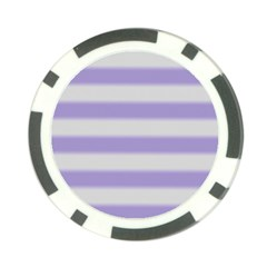 Bold Stripes Soft Purple Pattern Poker Chip Card Guard (10 Pack) by BrightVibesDesign