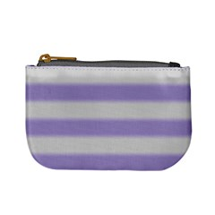 Bold Stripes Soft Purple Pattern Mini Coin Purse