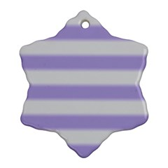 Bold Stripes Soft Purple Pattern Snowflake Ornament (two Sides) by BrightVibesDesign