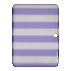 Bold Stripes Soft Purple Pattern Samsung Galaxy Tab 4 (10 1 ) Hardshell Case  by BrightVibesDesign