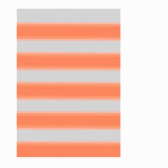 Bold Stripes Orange Pattern Large Garden Flag (two Sides) by BrightVibesDesign