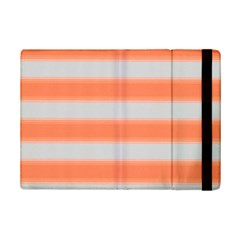 Bold Stripes Orange Pattern Ipad Mini 2 Flip Cases by BrightVibesDesign