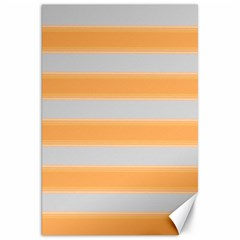 Bold Stripes Yellow Pattern Canvas 20  X 30  by BrightVibesDesign
