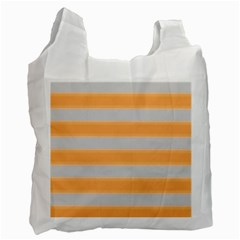 Bold Stripes Yellow Pattern Recycle Bag (one Side) by BrightVibesDesign