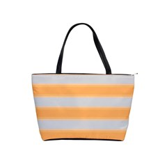 Bold Stripes Yellow Pattern Classic Shoulder Handbag by BrightVibesDesign