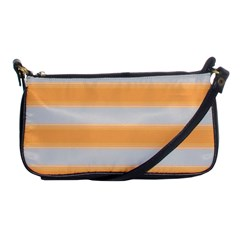 Bold Stripes Yellow Pattern Shoulder Clutch Bag by BrightVibesDesign