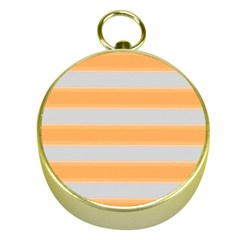 Bold Stripes Yellow Pattern Gold Compasses by BrightVibesDesign