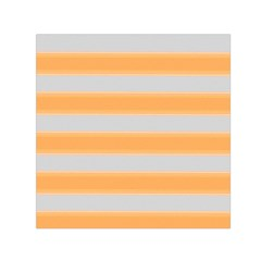 Bold Stripes Yellow Pattern Small Satin Scarf (square) by BrightVibesDesign
