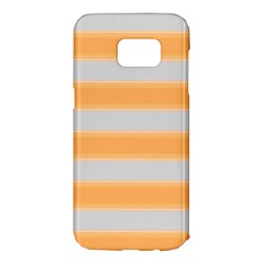 Bold Stripes Yellow Pattern Samsung Galaxy S7 Edge Hardshell Case by BrightVibesDesign