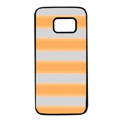 Bold Stripes Yellow Pattern Samsung Galaxy S7 Black Seamless Case by BrightVibesDesign