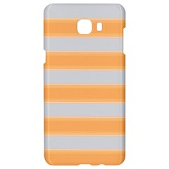 Bold Stripes Yellow Pattern Samsung C9 Pro Hardshell Case  by BrightVibesDesign