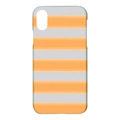 Bold Stripes Yellow Pattern Apple Iphone X Hardshell Case
