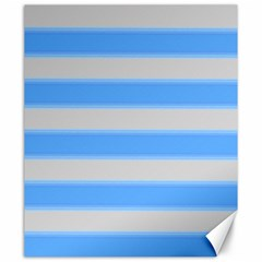 Bold Stripes Bright Blue Pattern Canvas 20  X 24  by BrightVibesDesign