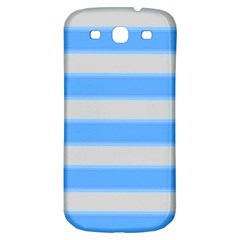 Bold Stripes Bright Blue Pattern Samsung Galaxy S3 S Iii Classic Hardshell Back Case