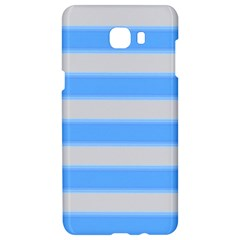 Bold Stripes Bright Blue Pattern Samsung C9 Pro Hardshell Case  by BrightVibesDesign