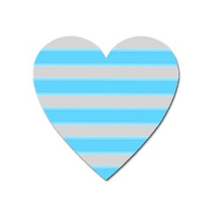 Bold Stripes Turquoise Pattern Heart Magnet