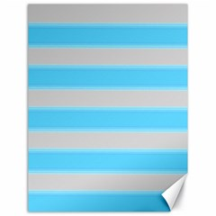 Bold Stripes Turquoise Pattern Canvas 18  X 24  by BrightVibesDesign