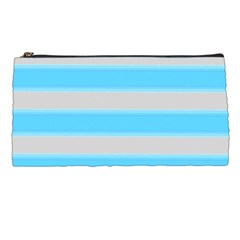 Bold Stripes Turquoise Pattern Pencil Cases