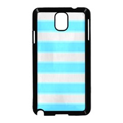 Bold Stripes Turquoise Pattern Samsung Galaxy Note 3 Neo Hardshell Case (black)