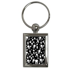 Gentleman Pattern Key Chains (rectangle)