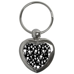 Gentleman Pattern Key Chains (heart)