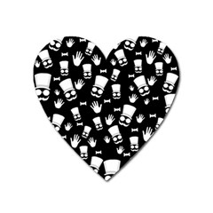 Gentleman Pattern Heart Magnet