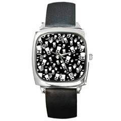 Gentleman Pattern Square Metal Watch