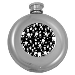 Gentleman Pattern Round Hip Flask (5 Oz)