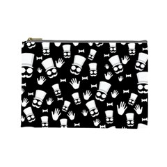 Gentleman Pattern Cosmetic Bag (large)