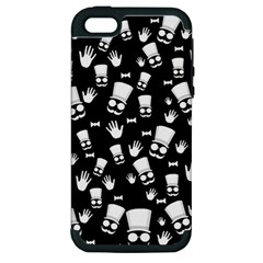 Gentleman Pattern Apple Iphone 5 Hardshell Case (pc+silicone)