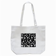 Gentleman Pattern Tote Bag (white)