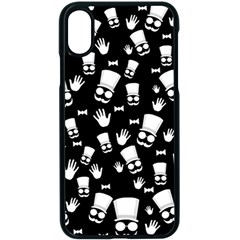 Gentleman Pattern Apple Iphone X Seamless Case (black)