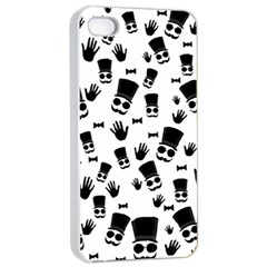Gentleman Pattern Apple Iphone 4/4s Seamless Case (white)
