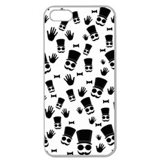 Gentleman Pattern Apple Seamless Iphone 5 Case (clear)