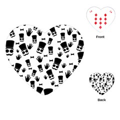 Gentleman Pattern Playing Cards (heart) by Valentinaart