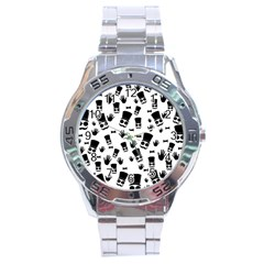 Gentleman Pattern Stainless Steel Analogue Watch