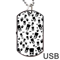 Gentleman Pattern Dog Tag Usb Flash (one Side)